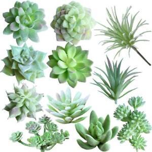 11 Pcs Fake Succulents Artificial Plant Floral Home Garden DIY Wedding Decor