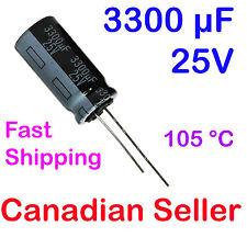 5pcs 3300uF 25V 12.5x26mm 105C Panasonic HD For LCD TV LED PS PC TFT STEREO DVD