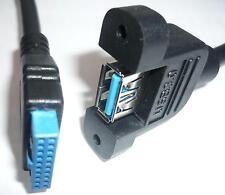 USB 3.0 Einbau Kabel Verlängerung intern 50cm 19 Pin Header Buchse DELOCK 83118