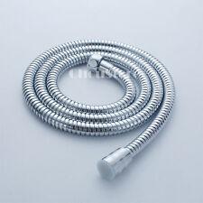 """Chrome Stainless Steel Braided Flexible Hand Shower Hose 150CM - G1/2"""" - 59"""" B43"""