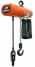 CM Lodestar 3522NH Electric Chain Hoist Model L 1 Ton 10 ft 115v