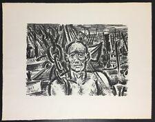 Frans Masereel Hafenarbeiter Lithographie 1963