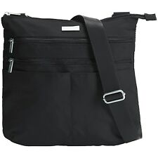 NEW BAGGALLINI Large Zip 'N Go Water-Resistant Nylon Triple Zipper Crossbody Bag