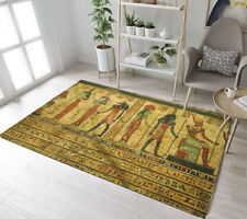 Ancient Egyptian Mural Floor Decor Mat Kids Play Area Rugs Room Yoga Soft Carpet