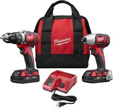 2691-22 MILWAUKEE M18 Lithium-Ion Cordless Drill Driver/Impact Driver Combo Kit