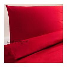IKEA DVALA Red Twin Duvet Cover and Pillowcase Pillow Case 100 Cotton Set