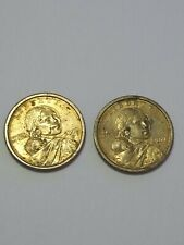 2000-D Sacagawea One Dollar 'Golden' US Liberty Coin - Total of 2 Coins