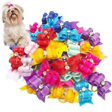 10Pcs Pet Dog Cat Flower Hair Bows With Rubber Band Pets Dog Grooming Product