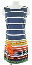 DESIGUAL Womens Sheath Dress EU 42 Medium Blue Striped  IY10