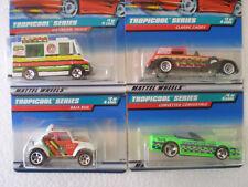 NIP (4) 1998 Hot Wheels TROPICOOL Ice Cream Truck VW BUG Caddy COMPLETE SET of 4