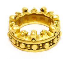 """Kieselstein-Cord 18k Solid Yellow Gold Band Ring, """"Crown"""" Design, Size 7.25"""