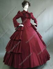 Victorian Maid Gothic Dress Gown Steampunk Vampire Halloween Costume 007 XXL