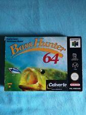 Bass hunter 64 Nintendo 64 Pal Multilanguage Full Boxed take 2 videogames rare