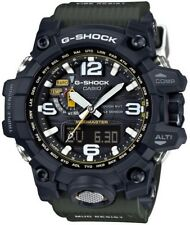 CASIO G-Shock Black/Green Solar Mudmaster Mens Watch GWG-1000-1A3DR