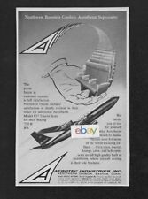 NORTHWEST ORIENT AIRLINES 1962 SELECTS AEROTHERM SEATING FOR BOEING 720B JETS AD