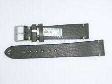 "FLUCO Germany Genuine Vintage Leather Watch Band 19 mm Brownish-green ""HUNTER"""