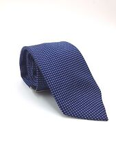 $95 CLUB ROOM Men`s WHITE NAVY BLUE CHECK DOT NECK TIE CASUAL NECKTIE 59x3.25