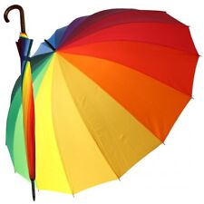 großer Regenschirm Partnerschirm Stockschirm bunt 130 Cm Happy Rain