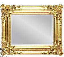 Espejo de pared Dorado Antiguo Barroco rectangular Decoración 60x50 baño