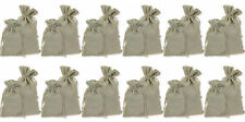 "12 Natural Linen Pouches, Favor, Present, Gift Bags, 4"" x 6"""