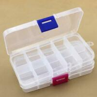 Adjustable 10 Compartments Plastic Box Fishing Tackle Box For Fishing Lure