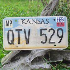 Véritable Plaque D'Immatriculation KANSAS (QTV529) USA License plate