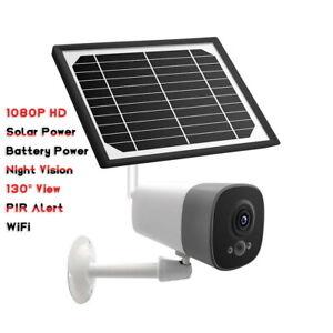 Solar Energy Powered Security Camera 1080P HD IP Wireless CCTV Night Outdoor