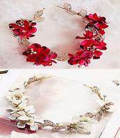 Women Girl Flower Boho Party Wedding Beach Tiara Crown hair headband Garland