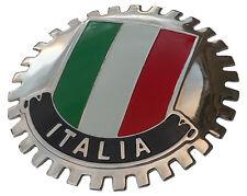 ITALIA flag grille emblem badge (ITALIAN - ITALY)