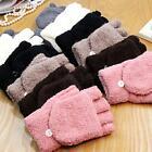 Knitted Fingerless Winter Gloves Fashion Unisex Women Men Soft Warm Mittens New