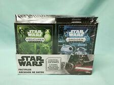Topps Star Wars Factfiles Sticker Box Conjunto completo de todas las 6 cajas de pegatinas + álbum