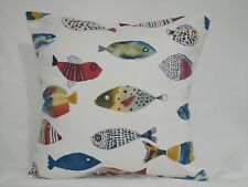 "16"" PRESTIGIOUS TEXTILES CUSHION COVER'S  1 X GONE FISHING' 100% COTTON"