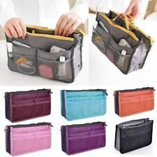 Lady Travel Insert Organizer Handbag Purse Large Liner Makeup Organizer Bag Gray