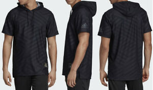 $70 Adidas Men's Medium USA Volleyball Short Sleeve Hoodie Black/Grey DP4318