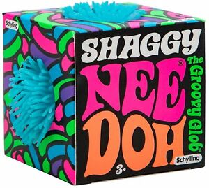 NeeDoh The Groovy Glob Shaggy TEAL 2.5-Inch Small Stress Ball