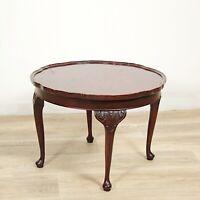 Tavolino rotondo antico tavolo deco vintage da salotto basso stile chippendale .