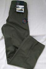 Pantaloni UOMO COTONE BHS in Inverno Verde W30 L31 Olio & resistente all'acqua