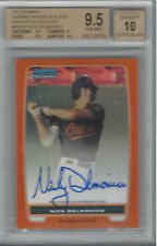 NICK DELMONICO 2012 BOWMAN CHROME PROSPECT AUTOS ORANGE REF 3/25 BGS 9.5/AU 10