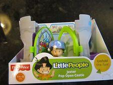 Fisher Price Little People New Box Castle Pop Open stackable Jester Clown Koby