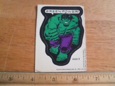 HULK 2 1975 Marvel sticker card Scarce Topps