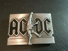 ACDC Rock Music Logo New BELT BUCKLE New Metal Pewter Angus Young Fist Jump
