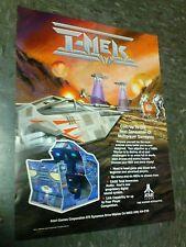 Atari T-MEK flyer- good original