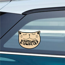 My Heartbelongs To A Cymric Cat Cat Sticker Decal 4.5x6 inc