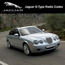 Jaguar S-Type Radio Code Security Unlock Decode Sat Nav Serial Pin Fast Service