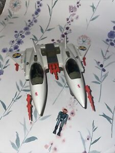 Vintage Starcom Starhawk bomber spaceship 1980s Coleco With Figure
