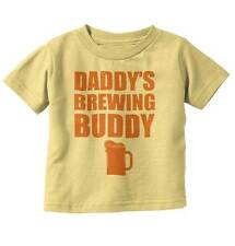Daddys Brewing Buddy Fathers Day Shower Gift Youth Toddler T-Shirt Tees Tshirts
