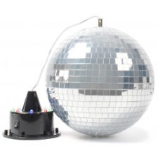 Disco Kugel selbstleuchtend Rotierend 20 Cm Mirror Ball 7 LED Motor Party Licht