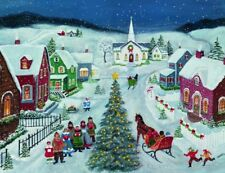 New LANG Boxed SILENT NIGHT 18 Christmas Cards 19 Envelopes
