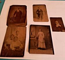 Lot of 5 Antique TIN TYPE PHOTOS