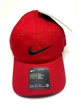 Nike Youth Boys Embroidered Swoosh Logo Brand Red Baseball Cap Hat Ages Toddler